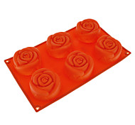 Rose Shaped Silicone Cake Mould Random Color