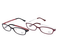 MUSENNA Unisex Transparent Lens Rectangle Eyeglasses (Random Color)