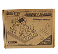 Sunny House Shaped Solar Power Wooden Puzzle