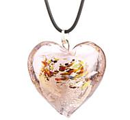 Big Heart Dark Coloured Glaze Necklace