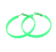 Candy Color Alloy Circle Pattern Earrings (Assorted Colors)