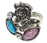 Flores e anel de diamante