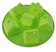 En forme de maison Moule à gâteau en silicone
