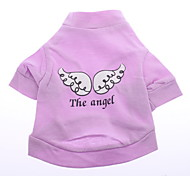Lovely White Wing Pattern Vest for Dogs (Pink,XS-L)