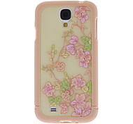 Exquisite Flower Pattern 3 in 1 Bumper and Back Case for Samsung Galaxy S4 I9500