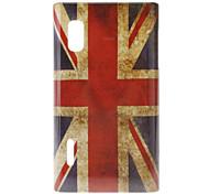 Retro UK Flag Pattern Hard Case for LG Optimus L5 E612