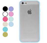 caso duro mate transparente para el iphone 5/5s (colores surtidos)