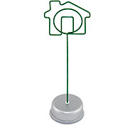 Green House Shape Metal Paper Clip
