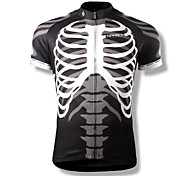 SPAKCT® Men's Short Sleeve Bike Breathable / Quick Dry / Wearable Jersey / Tops Polyester Skulls Summer Cycling/Bike