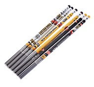 6 Pack patrón de dibujos animados de lápiz de madera