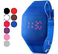 Men's Watch Red LED Digital Square Rubber Band  Wrist Watch Cool Watch Unique Watch