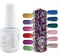 YeManNvYou®1PCS Sequins UV Color Gel Nail Polish No.217-228 Soak-off(15ml,Assorted Colors)