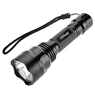 Brinyte B88 Single-Mode Cree XP-G R5 Green Light LED-Taschenlampe (240LM, 1x18650, Schwarz)