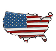 Car Auto Metal 3D American Flag Emblem Badge Decal Sticker