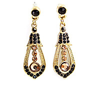 Alloy Zircon Hollow-out Waterdrop Patetrn Earrings