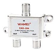 2 maneira de cabo coaxial divisor f parafuso 5 ~ 2400 mhz para vídeo VCR TV por cabo de antena