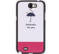 Paraguas para usted caso duro del diseño de cuero de la PU para Samsung Galaxy Note N7100 2