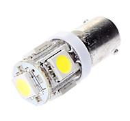 BA9S 1W 5x5050SMD Weißlicht-LED-Lampe für Auto-Bremsen-Lampen (DC 12V)