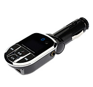 Reproductor MP3 para Coche 3 en 1 Adaptador Bluetooth/Wireless Transmisor FM con Jack USB y Ranura SD