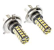 H4 3.5W 68-SMD 6000-6500K 310LM blanca faros antiniebla LED para el coche (12V DC, 1 par)