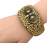 Huge Big Owl Face Plastic Bracelet Bangle