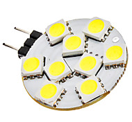 G4 1.5W 9x5050SMD 90-120LM 6000-6500K Natural White Light LED Spot Bulb (12V)
