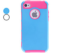 Double Shells Design Rose TPU Inner Shell Hard Case for iPhone 4/4S (Assorted Colors)
