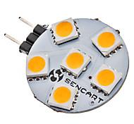 G4 1W 6x5050SMD 70-75LM 3000-3500K warm wit licht LED Spot lamp (12V)