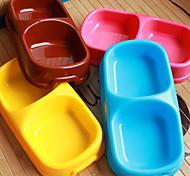 Chat / Chien Bols & Bouteilles d'eau Animaux de Compagnie Bols & alimentation Etanche / Portable Bleu / Brun / Rose / Jaune Plastique