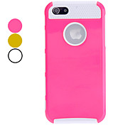 Double Shells Design White TPU Inner Shell Hard Case for iPhone 5/5S (Assorted Colors)