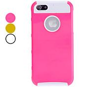 blanco diseño TPU de doble capas internas de cáscara duro para el iphone 5/5s (colores surtidos)