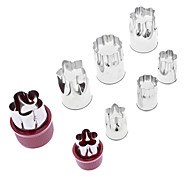 Flower Shaped Stainless Steel Cookie Cutters Set (8-Pack)