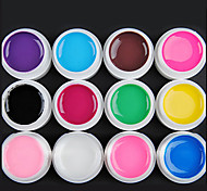 12-Color Transparent Glaze UV Gel