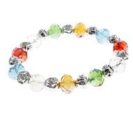 Cristal coloré de bracelet de Rose