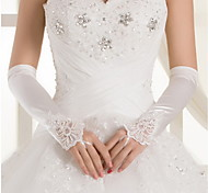 Elbow Length Fingerless Glove - Satin Bridal Gloves/Party/ Evening Gloves