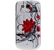 Flores rojas Caso duro del patrón para Samsung Galaxy S3 I9300