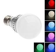 Lâmpada Redonda Controle Remoto E26/E27 2 W LM K Muda de Cor/RGB LED Integrado AC 220-240 V A
