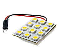 9mm 2,5 W 12x5050SMD 120-150LM 3000-3500 Warm White LED Placa Domo Luz (DC 12V)