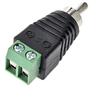 RCA Male Conecter Green Plug