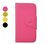 Double Color Inside and Outside PU Leather Full Body Case for iPhone 4/4S