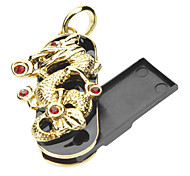 32GB de metal da jóia do estilo Golden Dragon USB Flash Drive