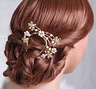 Luxurious Alloy Hand-made Hair Combs with Rhinestone for Wedding/Special Occasion Headpieces