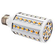 E27 10W 60x5050SMD 700-800LM 3000-3500K calientan la luz blanca LED del bulbo del maíz (12V)