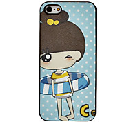 Cartoon Little Girl in Swim Ring Pattern PC Hard Case for iPhone 5/5S