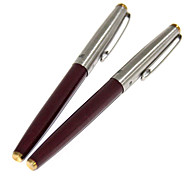 Metal Cap Extra-fine Fountain Pen (Red)