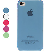 Transparent Solid Color TPU Hard Case für iPhone 4/4S (verschiedene Farben)