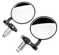 Motorcycle Chrome Bar End Circinal Rearview Mirrors