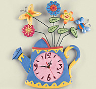 """18""""H Modern Style Spring Kettle Wall Clock"""