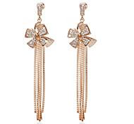 Elegant Alloy With Rhineston Tassels Women's Drop Earrings