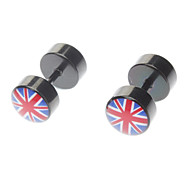 Stainless Steel British Flag Studs